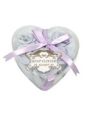 Набор из шести мыльных роз в упаковке в форме сердечка Liss Kroully