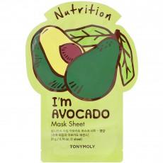 Тканевая маска для лица с авокадо TonyMoly I'm Avocado Mask Sheet (3шт)