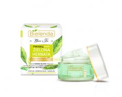 Крем от жирного блеска лица, дневной GREEN TEA BIELENDA