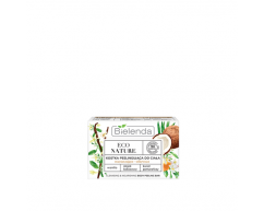 Cкраб для тела питательный (брусок) ECO NATURE Ванильное молоко + Кокосовое молоко + Цветок апельсина BIELENDA