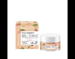 Крем для лица увлажняющий и питательный Peach ECO SORBET Bielenda