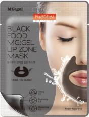 Гидрогелевая маска для области вокруг губ BLACK FOOD MG:GEL LIP ZONE MASK PUREDERM