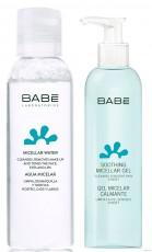 Дорожный набор ВАВЕ для очистки кожи (Мицеллярная вода 100мл + Успокаивающий мицеллярный гель 90мл со скидкой 50% )