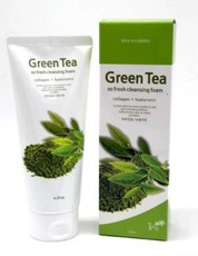 Очищающая пенка с экстрактом зелёного чая JIGOTT