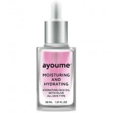 Увлажняющее восстанавливающее масло для лица AYOUME Moisturing & Hydrating Face Oil With Olive 30мл