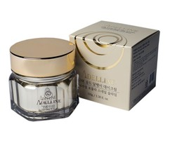 Дневной крем с коллоидным золотом и слизью улитки, серия «Золотая улитка» Adelline 24K Gold Snail Day Cream
