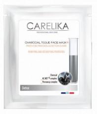Tканевая очищающая детокс маска с древесным углем Provide Preccious Detox Care CARELIKA Detox