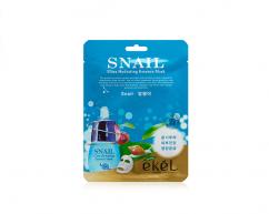 Тканевая маска для лица SNAIL с фильтратом муцина улитки питательная EKEL