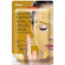 Гидрогелевая маска для лица Маточное молочко GOLDEN THERAPY ROYAL JELLY MG:GEL MASK PUREDERM