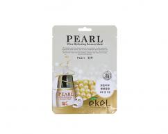 Тканевая маска для лица PEARL с экстрактом жемчуга с антиоксидантным эффектом EKEL