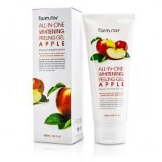 Гель для лица Отшелушивающий с экстрактом яблока, 180 мл Farmstay All In One Whitening Peeling Gel Cream Apple