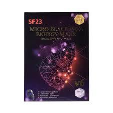 Углеродная маска c гексагональной кристаллической структурой на основе графена: SF23 Micro Black Feel Energy Mask Skin Factory