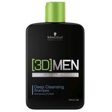 Шампунь для глубокого очищения Schwarzkopf 3D Men Deep Cleansing Shampoo Schwarzkopf