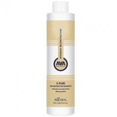 Восстанавливающий шампунь для поврежденных волос с пшеничными протеинами X-PURE RECONSTRUCTIVE SHAMPOO Kaaral