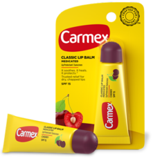 Бальзам для губ с ароматом вишни с SPF15, туба в блистере Carmex