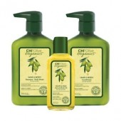 Набор для волос CHI OLIVE ORGANICS (Оливковый шампунь для волос и тела 340мл. +Оливковый кондиционер для волос и тела 340мл. +Оливковое масло для волос и тела 59мл) без коробки