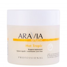 Корректирующий термо-скраб с энзимами для тела Hot Tropic, 300мл ARAVIA Professional