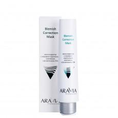 Маска-корректор против несовершенств с хлорофилл-каротиновым комплексом и Д-пантенолом (3%) Blemish Correction Mask, 100мл ARAVIA Professional