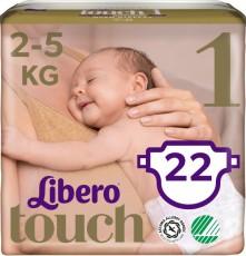 Детские подгузники Libero Touch 1 (Newborn) 2-5 кг