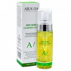 Пенка для умывания с коллоидной серой и экстрактом женьшеня Anti-Acne Cleansing Foam ARAVIA Laboratories