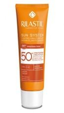 Крем SPF 50+ водостойкий для чувствительной кожи с pro-DNA complex, 50 мл Rilastil SUN SYSTEM PPT
