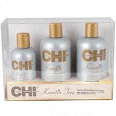 Набор CHI KERATIN TRIO набор: Shampoo 355ml + Conditioner 355ml + Keratin Silk Infusion 177ml