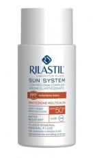 Минеральный флюид для сверхчувствительной, склонной к аллергии на солнце кожи SPF 50+ 50мл Rilastil SUN SYSTEM PPT
