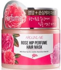 Маска для поврежденных волос Kwailnara Around Me Rose Hip Perfume Hair Mask WELCOS