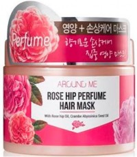 Маска для поврежденных волос Kwailnara Around Me Rose Hip Perfume Hair Mask WELCOS