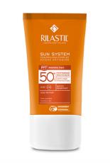 Cолнцезащитный антивозрастной крем для лица для чувствительной кожи с Pro-Dna Complex SPF 50+ Rilastil SUN SYSTEM PPT