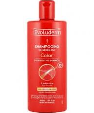 Восстанавливающий шампунь для окрашенных волос с Кератином/ EVOLUDERM COLOR REGENERATING SHAMPOO with Keratin