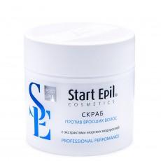 Скраб против вросших волос с экстрактами морских водорослей 300мл Start Epil