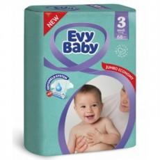 Подгузники детские Evy Baby Midi 5-9кг, 68 шт