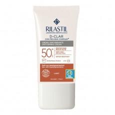 Солнцезащитный крем SPF 50+, выравнивающий тон для кожи, склонной к гиперпигментации, 40 мл Rilastil SUN SYSTEM D-CLAR Photoprotective uniforming cream SPF 50+ skin with hyperpigmentation