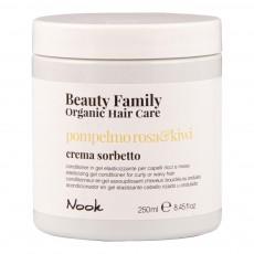 Гель-кондиционер для эластичности кудрявых и вьющихся волос Розовый грейпфрут и Киви Beauty Family Organic Hair Care POMPELMO ROSA&KIWI CR SORB/ELAST GEL COND 250мл Nook