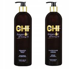 Набор CHI ARGAN OIL (Шампунь для волос на основе масел аргании и моринги 739мл+Кондиционер для волос на основе масел аргании и моринги 739мл) (без коробки)