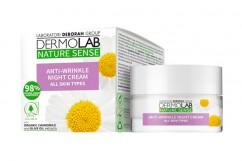 Крем от морщин ночной DERMOLAB NATURE SENSE ANTI-WRINKLE NIGHT CREAM all skin types, 50 мл Deborah Milano Nature Sense