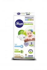 Детские подгузники Sleepy Natural Jumbo Pack 2 Mini (3-6 кг) 42 шт