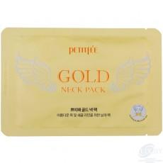 """Гидрогелевая маска для шеи """"Золото"""" Petitfee Gold Neck Pack (2шт)"""