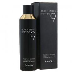 Сыворотка для лица Муцин черной улитки и пептиды, 120 мл FarmStay Black Snail & Peptide 9 Perfect Serum