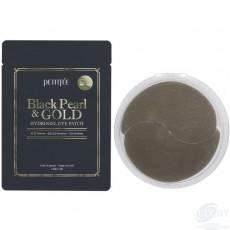 """Гидрогелевые патчи для области вокруг глаз """"Черный жемчуг и Золото"""" (однократного применения) Petitfee Black Pearl & Gold Eye Patch (single use) (3уп)"""
