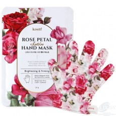 Маска-перчатки для ухода за кожей рук Koelf Rose Petal Satin Hand Mask (3 пары)