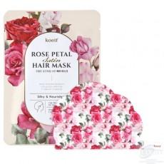 Маска-шапочка для ухода за волосами и кожей головы Koelf Rose Petal Satin Hair Mask