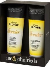 Набор ОСВЕТЛЕНИЕ (шампунь осветляющий 250мл + кондиционер осветл. 250мл) Sheer Blonde Go Blonder JOHN FRIEDA
