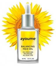 Масло для лица восстанавливающее с экстрактом подсолнуха AYOUME Balancing Face oil with Sunflower 30 мл