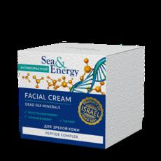 Антивозрастной крем для лица для зрелой кожи с пептидным комплексом Sea&Energy
