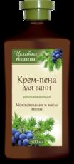 Пена для ванн «Можжевельник и масло мяты» успокаивающая Целебные рецепты