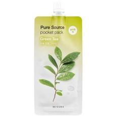 Ночная маска для лица MISSHA Pure Source Pocket Pack (Green Tea), 3уп