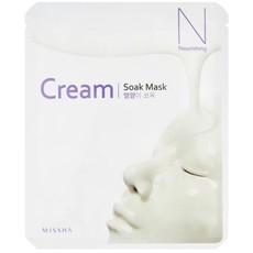 Маска для лица на тканевой основе MISSHA Cream-Soak Mask [Nourishing], 2уп