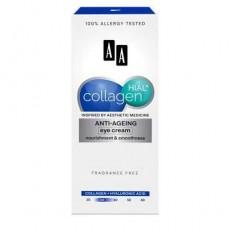 Антивозрастной крем для кожи вокруг глаз питание и гладкость, 15мл AA COLLAGEN HIAL+